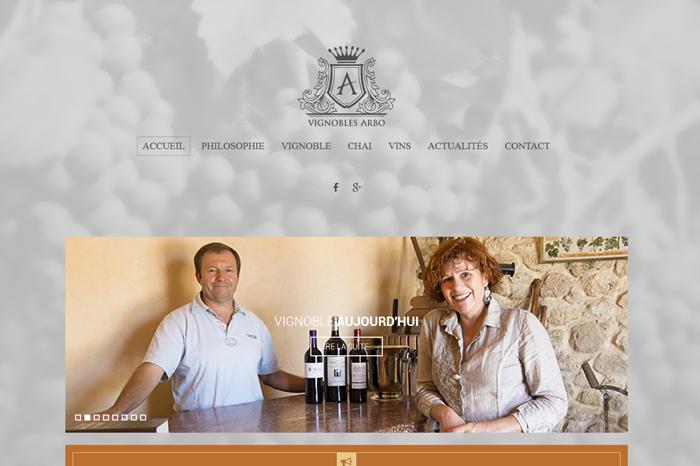 Vignobles Arbo Site Web