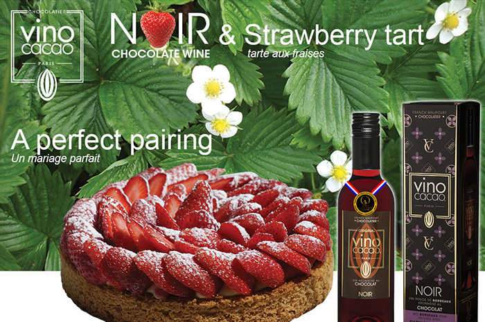 VinoCacao Tarte aux fraises